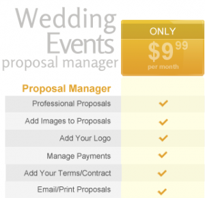 Wedding/Event Proposals for Florists - Pricing