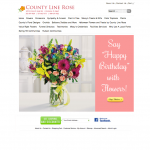 County Line Rose - Example Florist Website