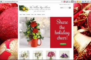Florist Website - Christmas Theme