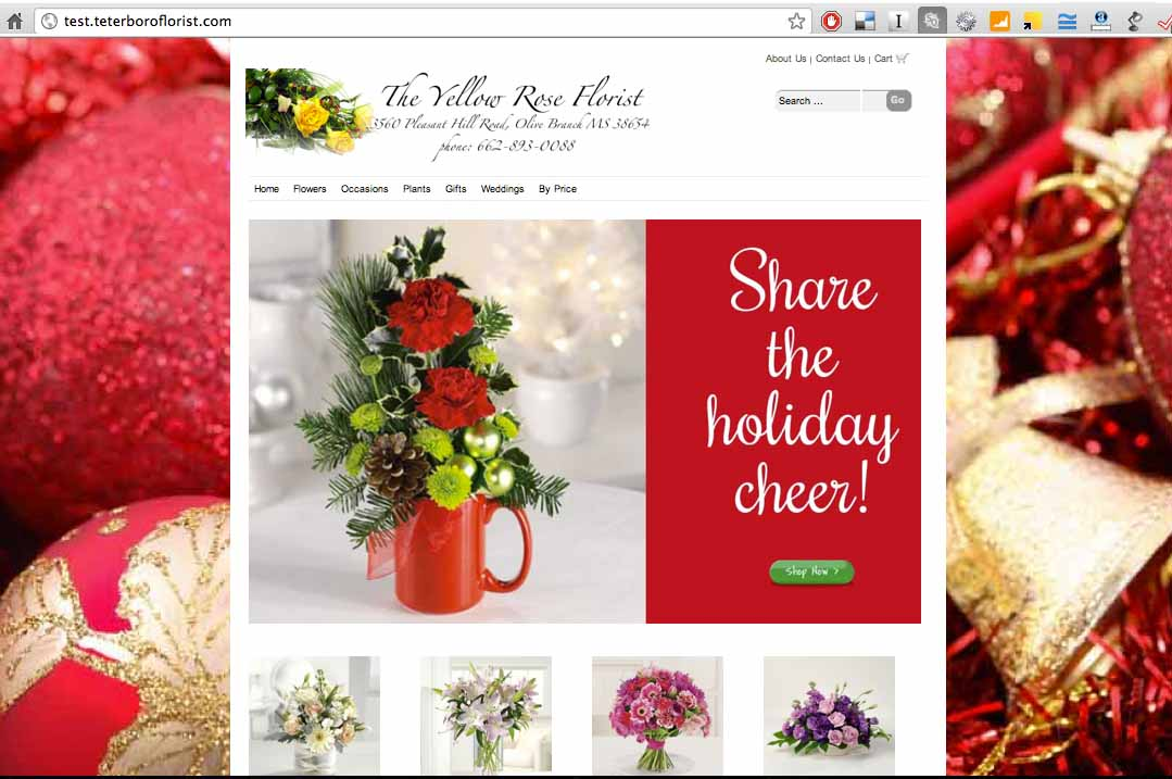 Christmas Backgrounds for Your Florist Website | Floranext ...