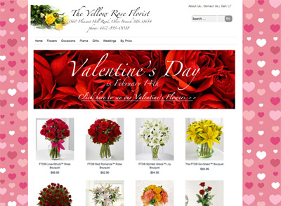 Floranext - Valentine's Day Florist Website