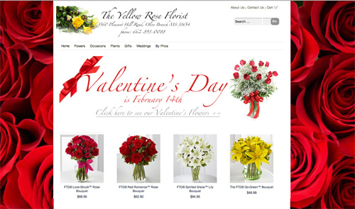 Floranext - Valentine's Day Website