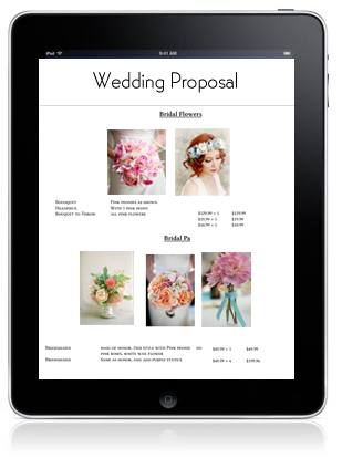 Wedding Proposal Software - iPad