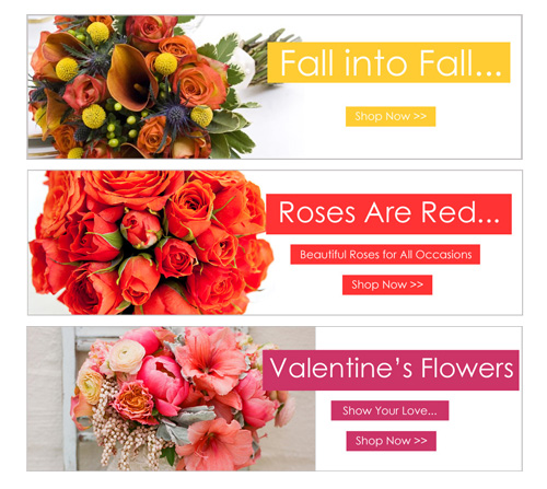 Florist Website Banners