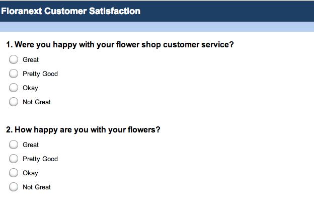 Flower Shop Surveys With Surveymonkey Floranext