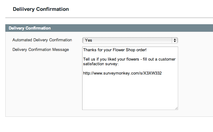 Florist POS - Delivery Confirmation