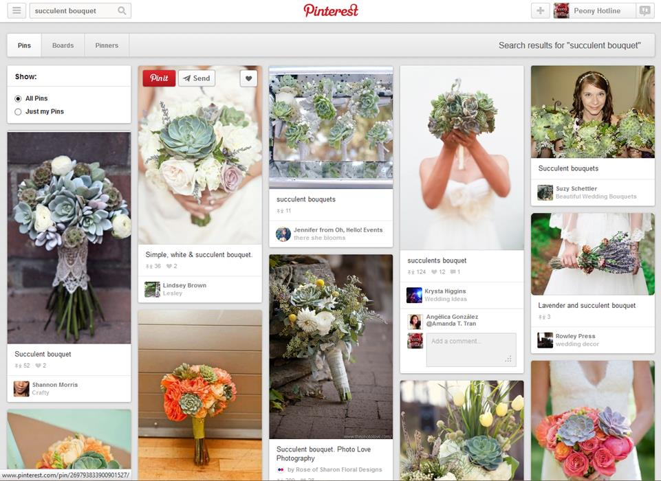Flower Shop Pinterest Board