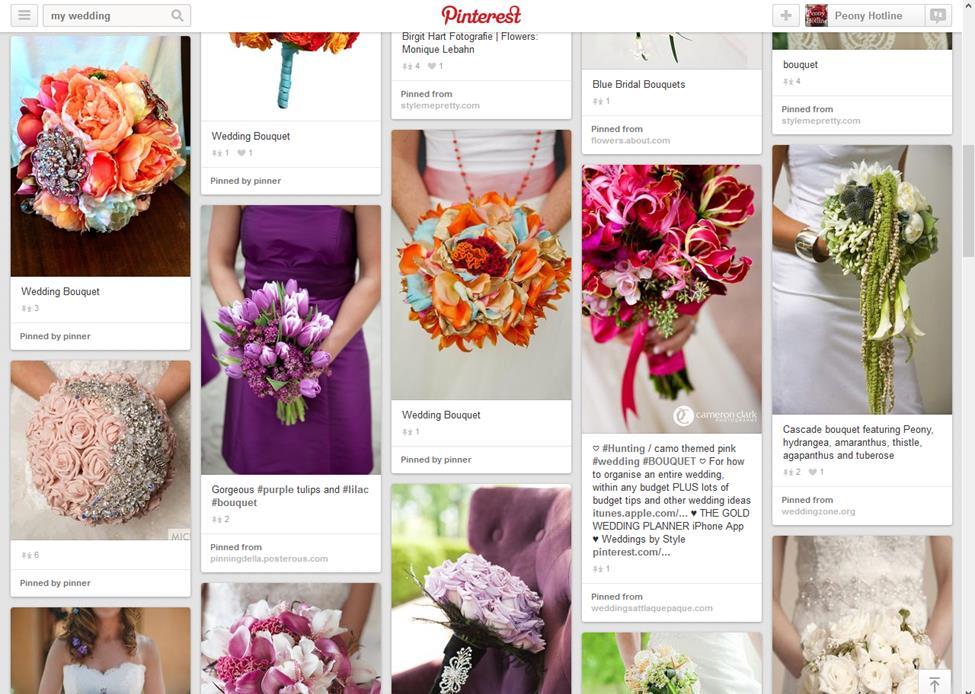 Wedding Boards from Pinterest