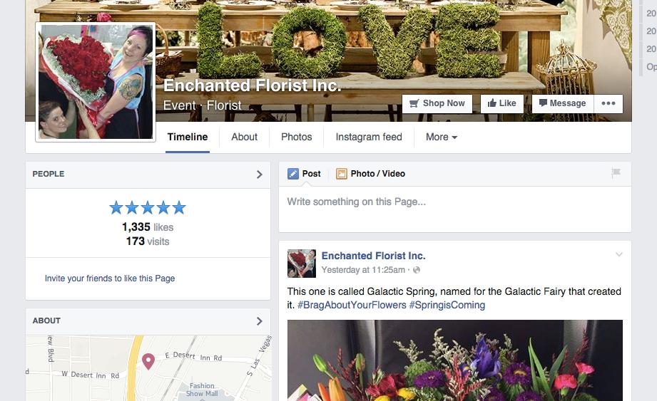 Facebook florist likes