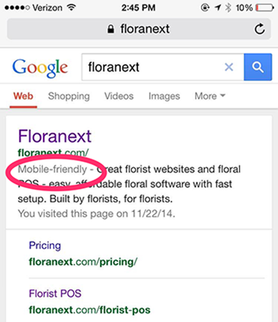 Google Search Florist