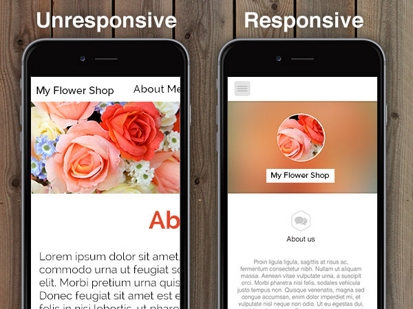responsive-vs-unresponsive-florist-website