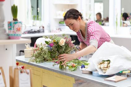 Florist Designing Flowers
