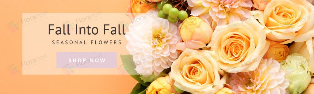 florist website banner