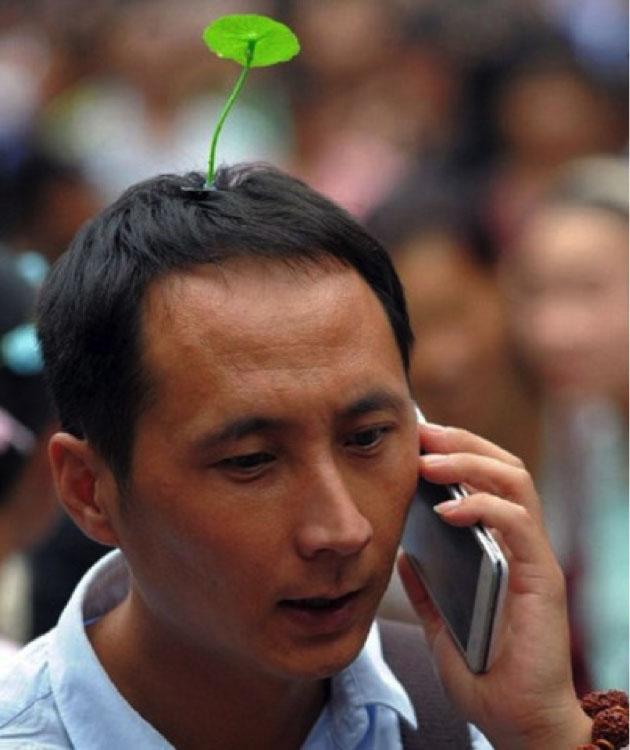 Chinese flower headwear trend