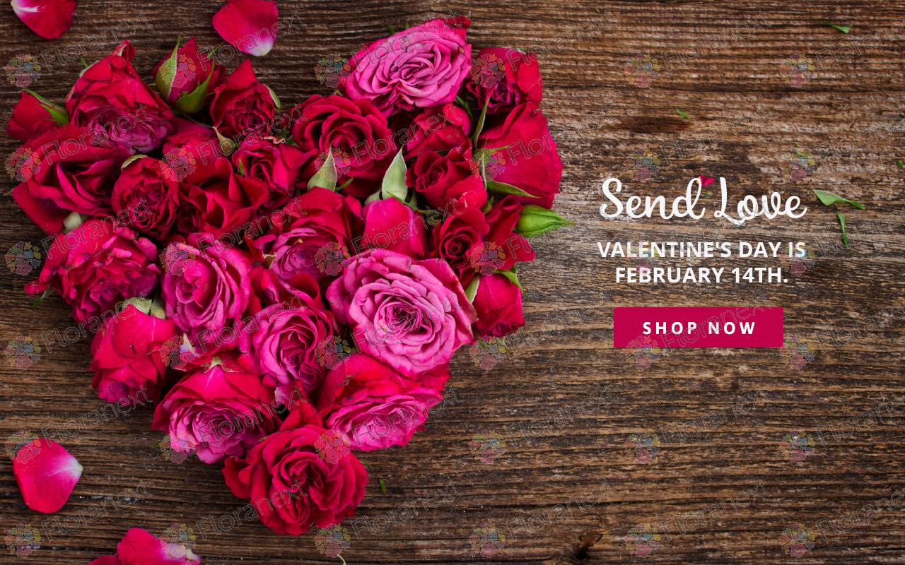Florist Website Valentine's Day Banners
