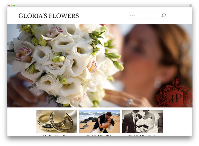 Florist Wedding Website