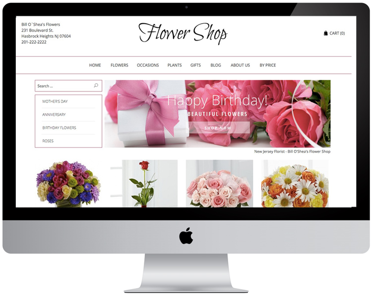 Florist Websites - Theme