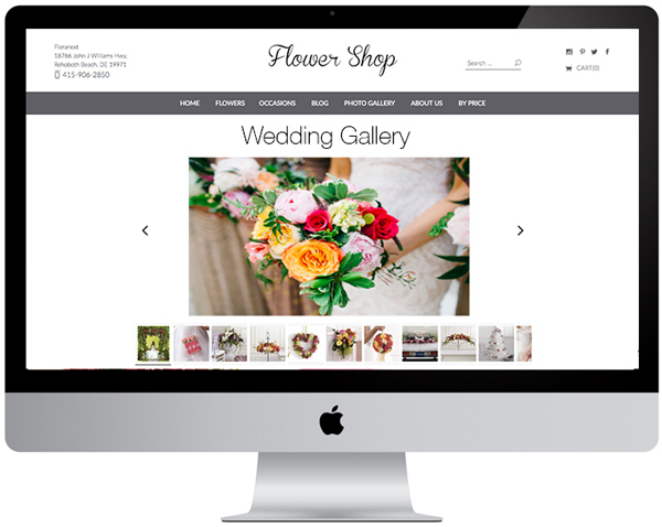 Florist Website - Image Gallery
