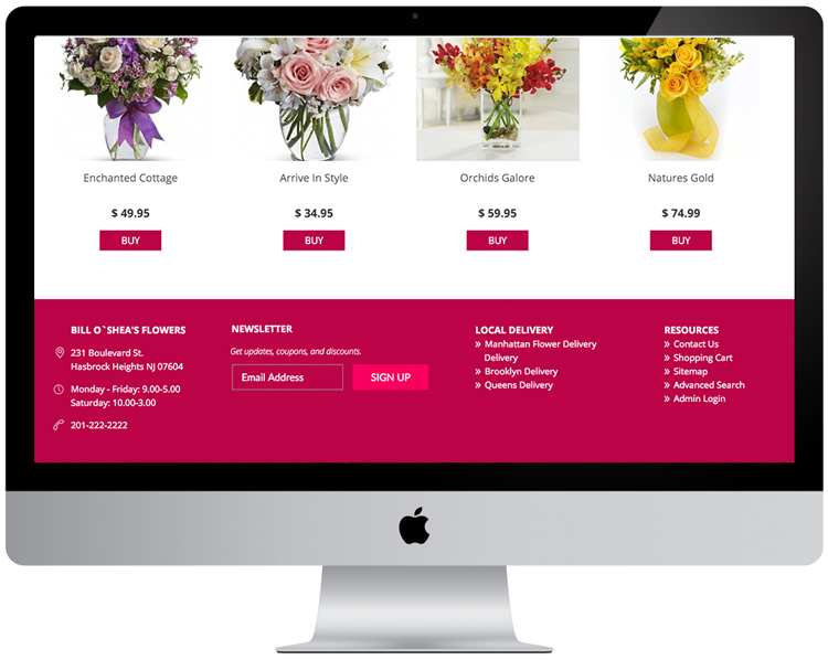 Florist Websites - Colors