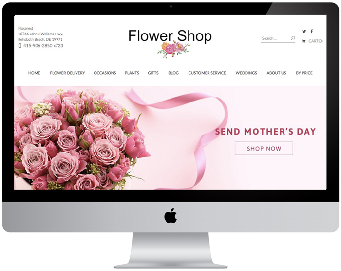 Florist website theme