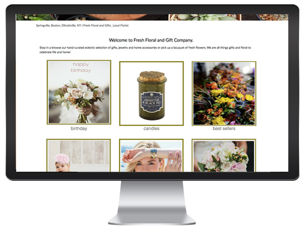 Florist Website - Blocks