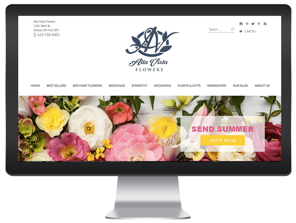 Florist Website Theme Design
