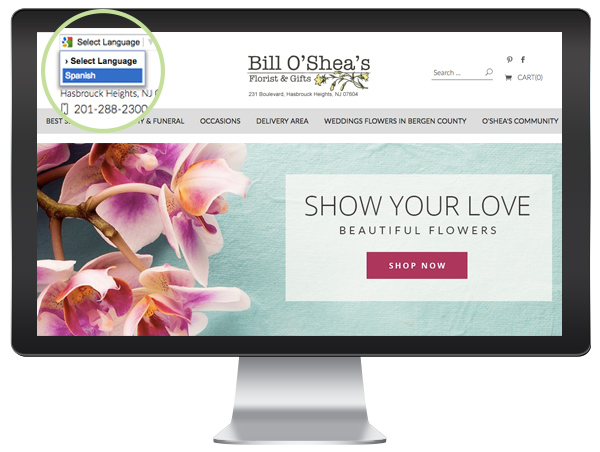 Multi-Language Florist Website