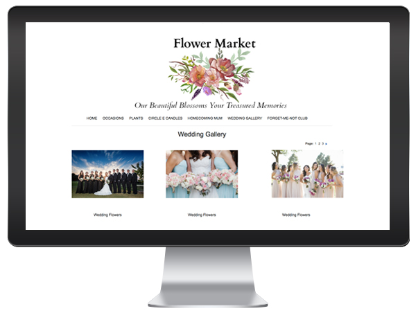 florist website wedding gallery