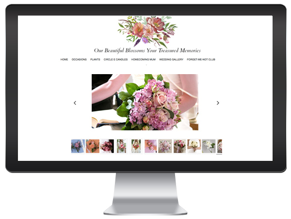 Florist Website - Wedding Gallery