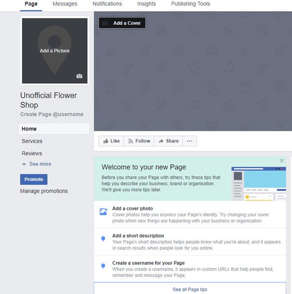 Florist-facebook-information