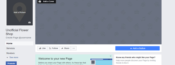 Create A Floral Facebook Business Page - 5 Steps | Floranext