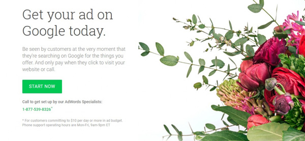 start-floral-adwords-campaign