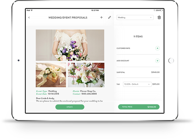 Weddings Event Software Floranext Florist Websites Floral Pos
