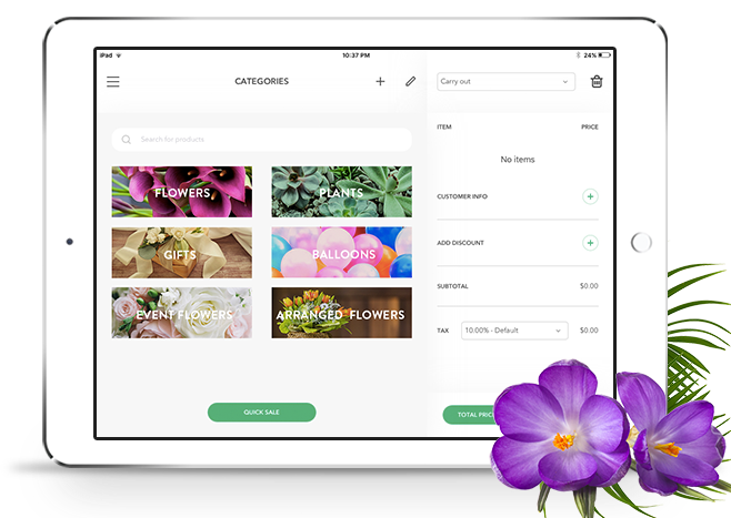 Florist Point of Sale iPad App