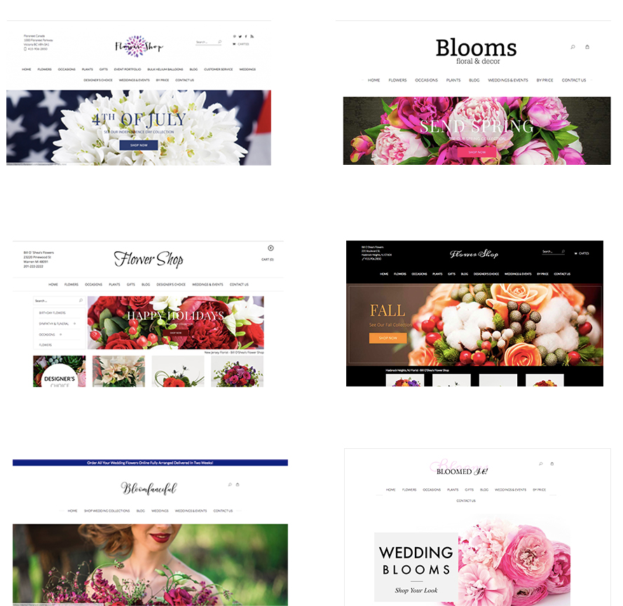 Florist Website Themes