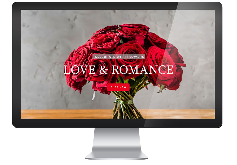 florist website large banner