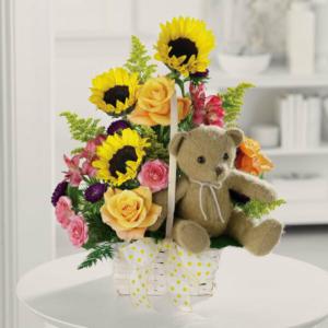 Flower, Bear, Plushie