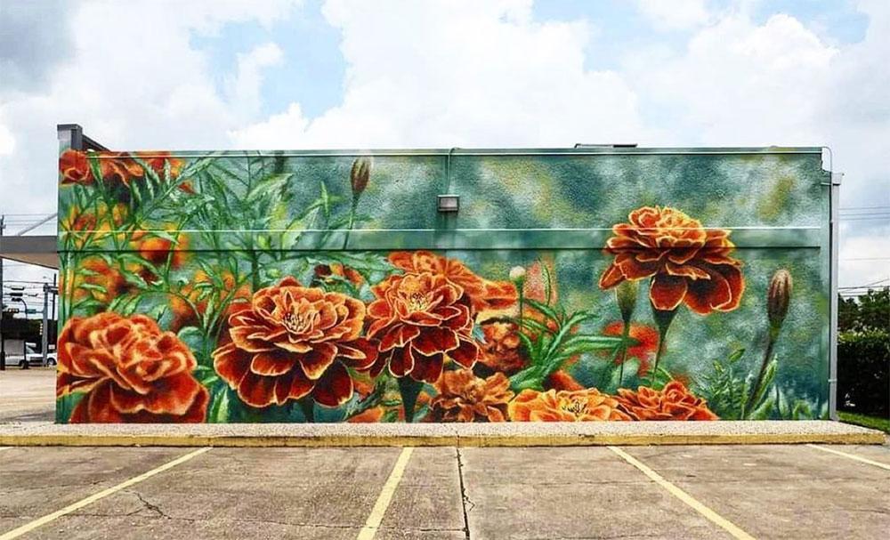 Houston-Mural-Spot-floral-mural